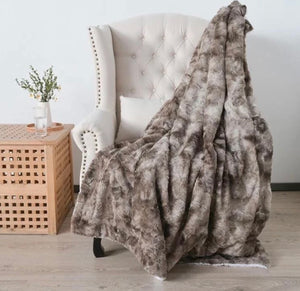 Chocolate Faux Fur Throw Blanket
