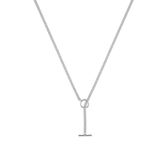 Bloom Mini Toggle Necklace - Silver