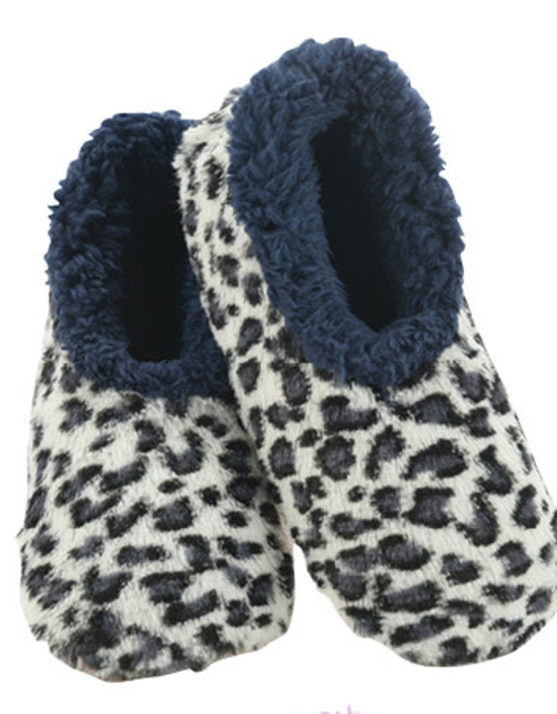 Blue Leopard Slippers