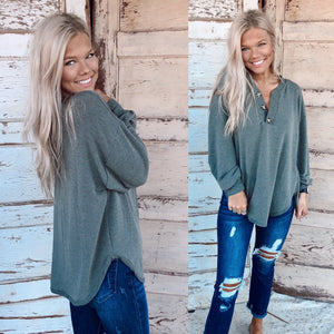 The Penny Knit Tunic in Olive