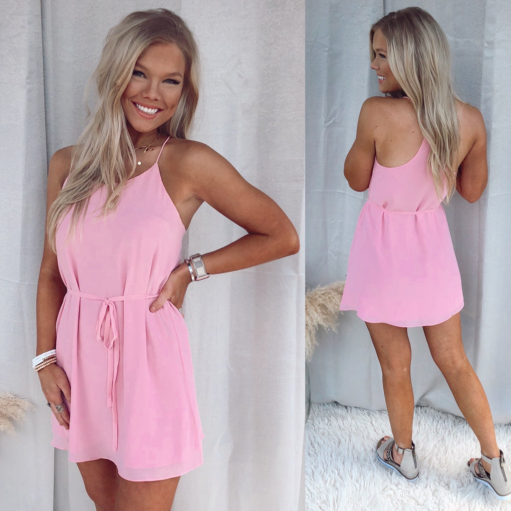Blush Basic Tie Dress