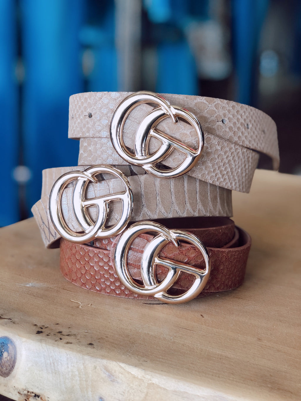 Faux Leather G Belts