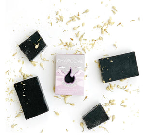 Activated Charcoal Lavender + Vanilla Detoxifying Soap Bar