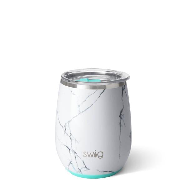 Swig Marble Stemless Wine Cup