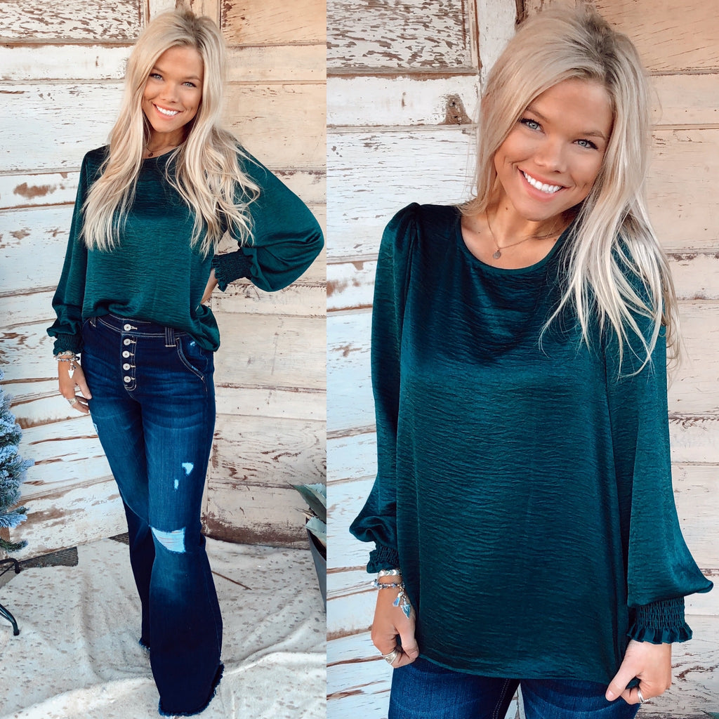 Surely Chic Basic Blouse - Emerald