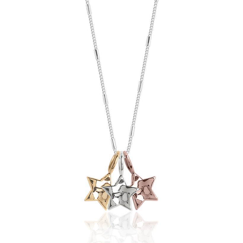 Florence Hammered Star Necklace