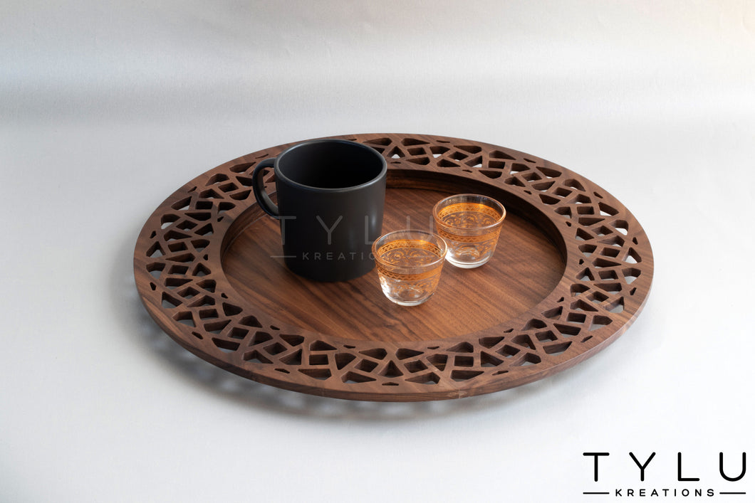 Round Serving Tray (Wood+MDF)