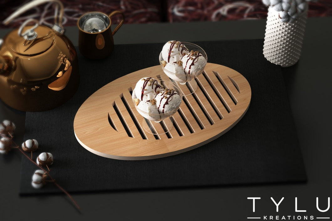 Deco Oval Slot Tray