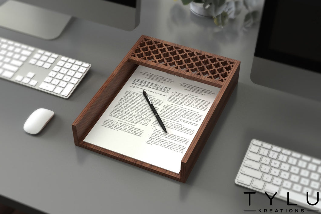 Patterned Document Tray