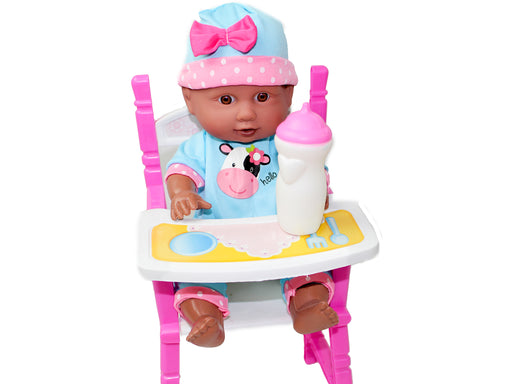"Little Luv 12"" Doll & High Chair Set"