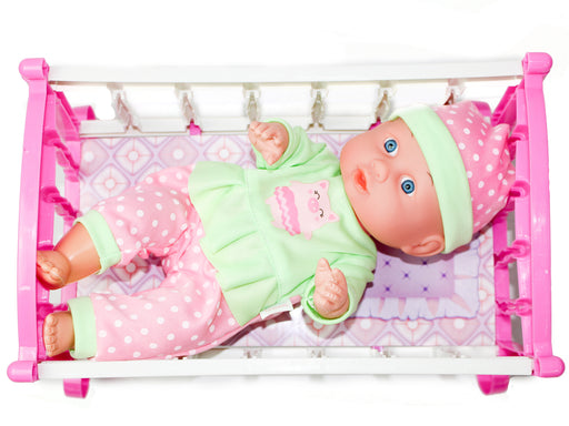 Little Luv Baby Doll with Crib Gift Set