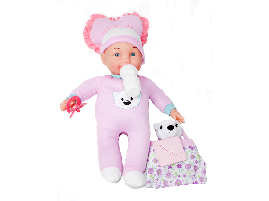 It's a Girl Doll & Stuffed Animal Doll Set
