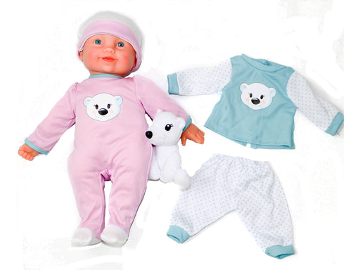 "Baby First Born 14"" Doll & Stuffed Animal Doll Set"