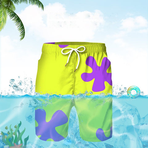 Men's Beach Shorts Yellow Swim Trunks