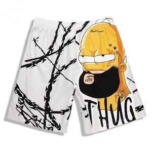 Homer Simpson Men's Loose Casual Trunks Swim Shorts