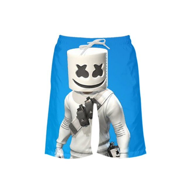 Boys Marshmello All-Over Print Trunks Beach Shorts