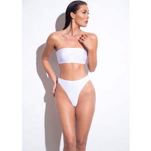 Women Removable Strap Wrap Pad Cheeky High Waist Bikini Set