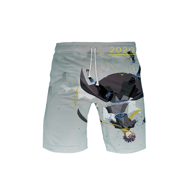 ID: INVADED Anime Character Print Leisure Trunks Swim Shorts