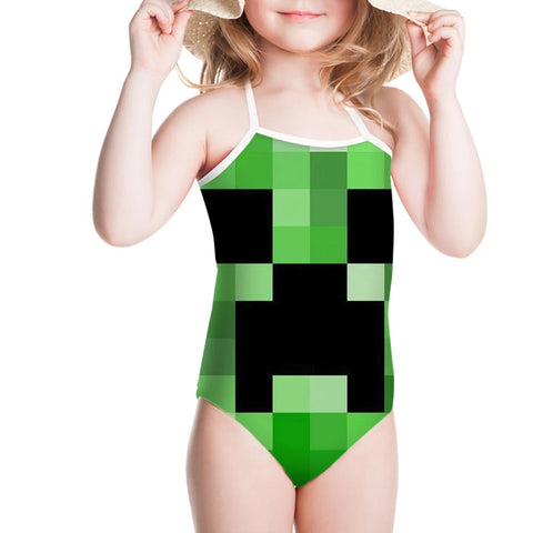 Minecraft Creeper One Piece Swimsuit Kids