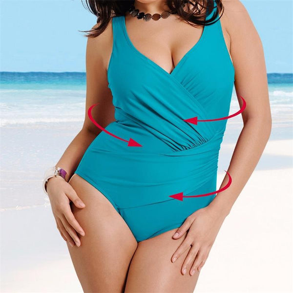 Plus Size Bikini Women High Waist Bikini One Piece Swimsuit