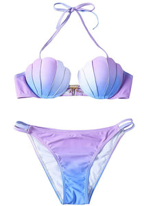 Seashell Bikini Set Padded Mermaid Swimsuit