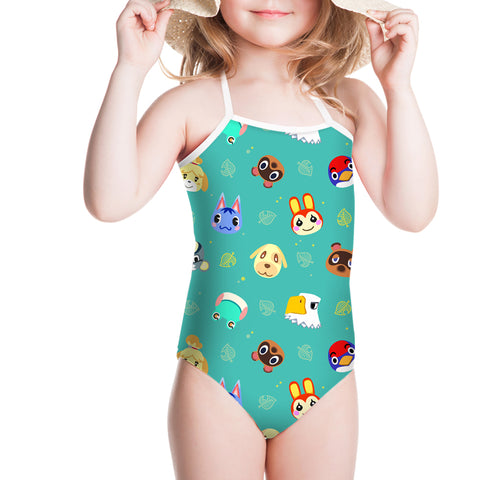 Animal Crossing New Horizons One Piece Swimsuit for Kids Girl