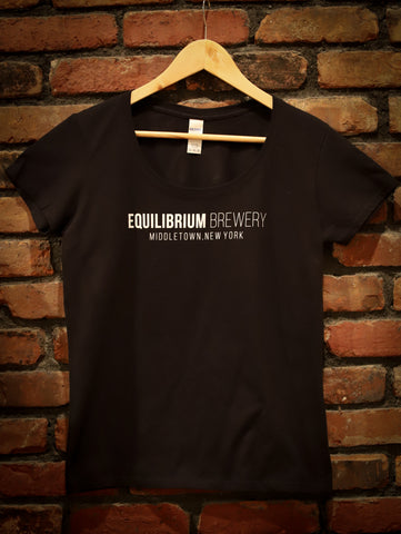 Woman's Black Equilibrium Print T-Shirt