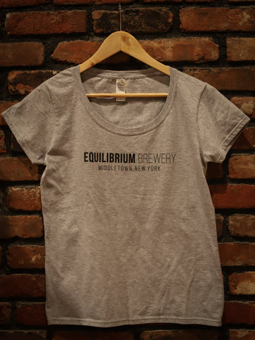 Woman's Grey Equilibrium Print T-Shirt