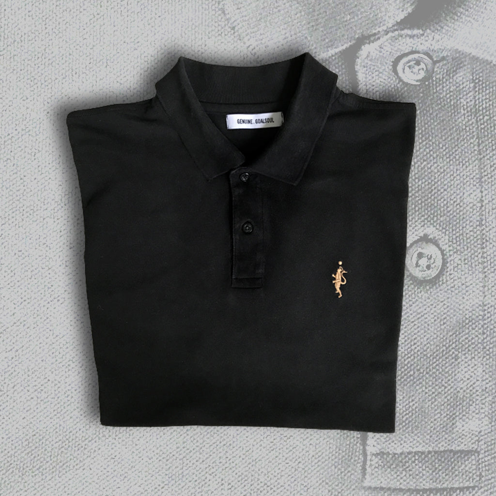 Classic Pique Polo - Black and Tan