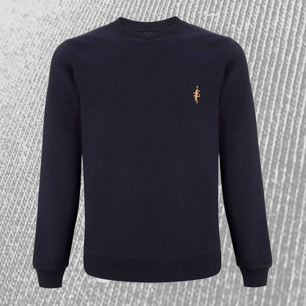 Classic Sweatshirt - Navy Blue and Tan