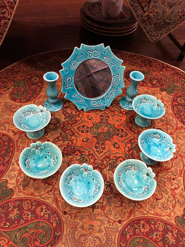 Persian HaftSeen - Very Beautiful Ceramic HaftSeen - Style#2 - gallery-eshgh