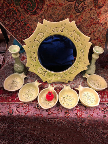 Persian HaftSeen - Very Beautiful Ceramic HaftSeen - Style#4 - gallery-eshgh