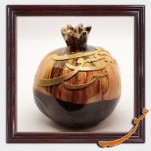 Load image into Gallery viewer, Hand Made Ceramic Pomegranate with Calligraphy - Abstract 2