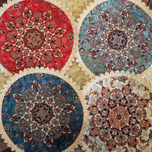 Load image into Gallery viewer, Termeh - Luxurious circle shape Persian textile - Buy 6 for only $35! - Pattern 1 - gallery-eshgh