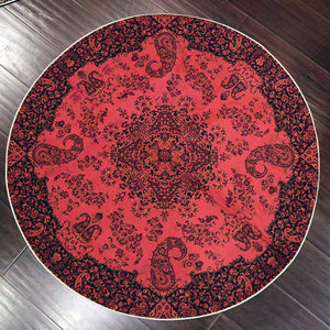 "Termeh - Luxurious circle shape Persian textile 38""diameter - Pattern 1 - gallery-eshgh"