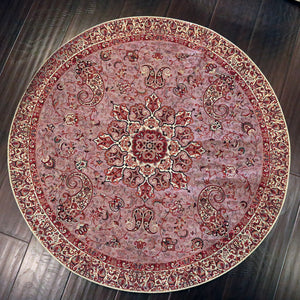 "Termeh - Luxurious circle shape Persian textile 38""diameter - Pattern 3 - gallery-eshgh"