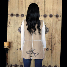 Load image into Gallery viewer, Women Gilet with Printed Calligraphy of a Persian Poem - gallery-eshgh