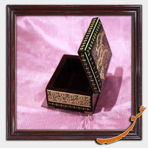 Hand Made Khatam Box with Calligraphy of the Word of Love - gallery-eshgh