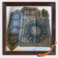 Load image into Gallery viewer, Termeh - A Set of 5 Pieces Luxurious Persian textile - Pattern 3