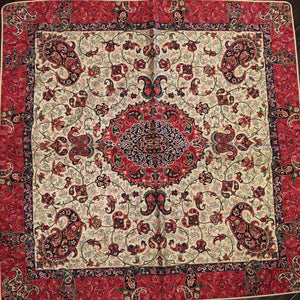 "Termeh - Luxurious square shape Persian textile 39""- Pattern 1 - gallery-eshgh"