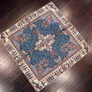 "Termeh - Luxurious square shape Persian textile 39""- Pattern 3 - gallery-eshgh"