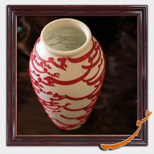Hand Made Ceramic Pot with calligraphy of the word of Love - gallery-eshgh