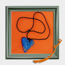"Load image into Gallery viewer, Hand Made Necklace Pendant - Heart Shape with a wooden word of ""Eshgh"" - gallery-eshgh"