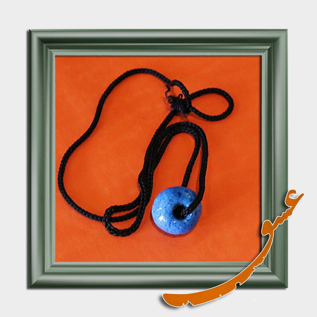 Hand Made Necklace Pendant -Turquoise Evil Eyes - gallery-eshgh
