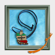 Load image into Gallery viewer, Hand Made Necklace Pendant Iran Flag - Silver Base - 1 - gallery-eshgh