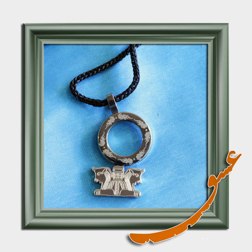 Hand Made Necklace Pendant Persepolis - Silver - gallery-eshgh