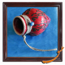 Load image into Gallery viewer, Hand Made Ceramic Potteries - Hanging Wall Decoration With Rope - Red - gallery-eshgh