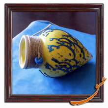 Load image into Gallery viewer, Hand Made Ceramic Potteries - Hanging Wall Decoration With Rope - Yellow - gallery-eshgh