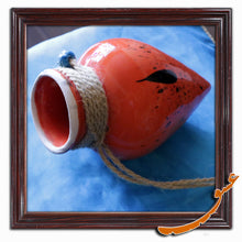 Load image into Gallery viewer, Hand Made Ceramic Potteries-Hanging Wall Decor-Dropped Ink-Red - gallery-eshgh