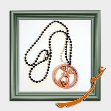 Load image into Gallery viewer, Hand Made Necklace Pendant with Calligraphy of the Word of Love in 2 Sizes - gallery-eshgh